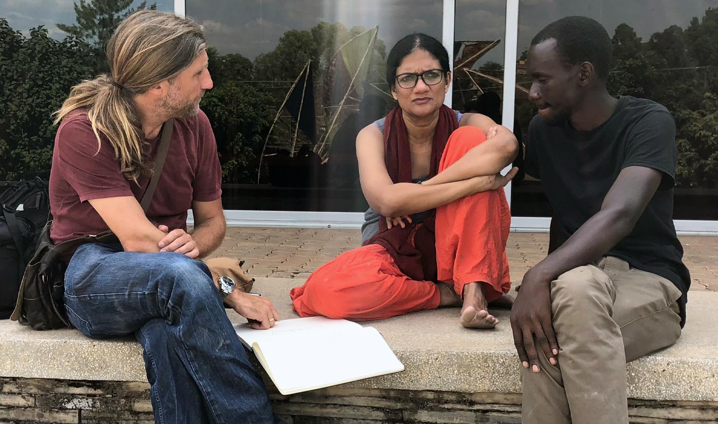 Production meeting in Rwanda